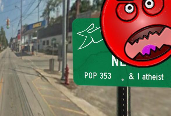 ney ohio village limits sign
