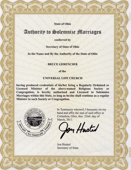 ohio license to marry 2