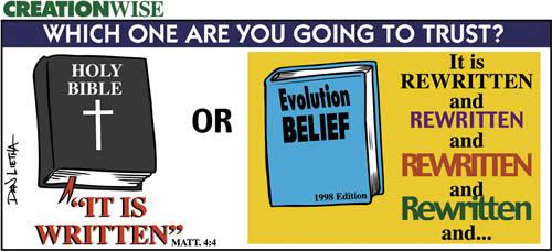 bible vs evolution