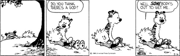 calvin and hobbes god
