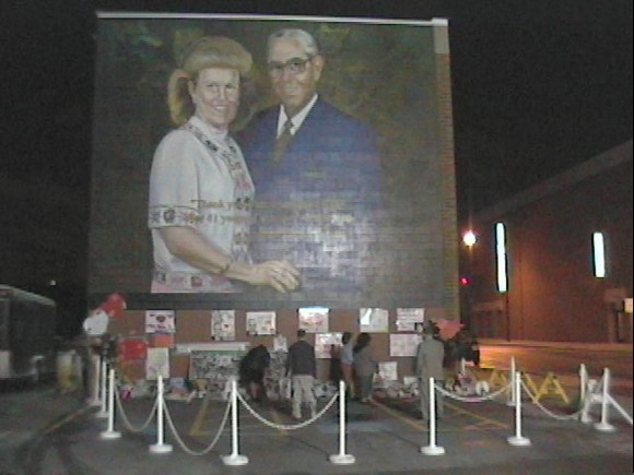 Shrine built after Jack Hyles died, as always bigger than life.