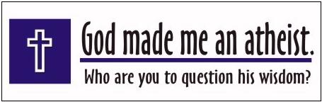 god made me an atheist