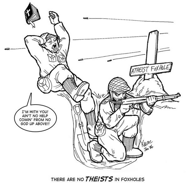 atheist foxhole