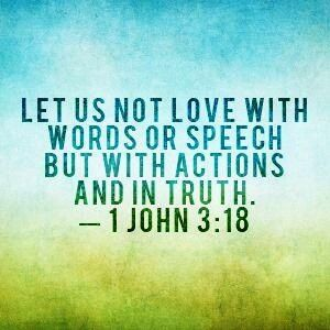 love with actions not words