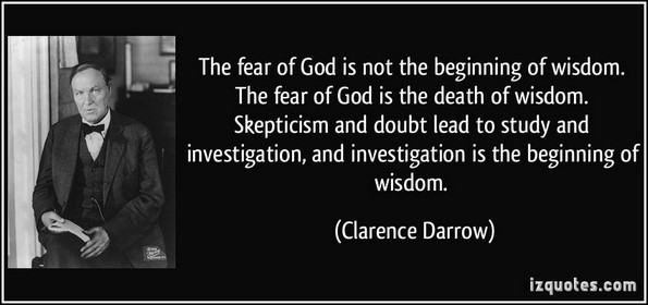 fear of god clarence Darrow
