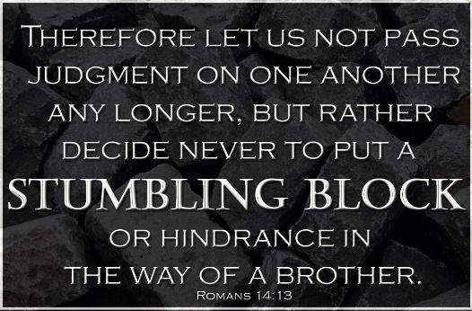stumbling block