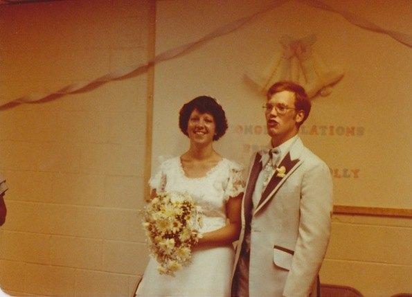Polly and Bruce Gerencser, Wedding July 1978