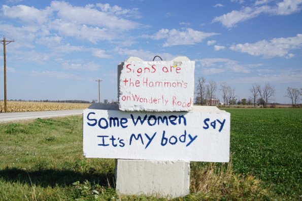 route 18 abortion signs