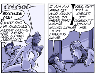 atheist and deist having sex