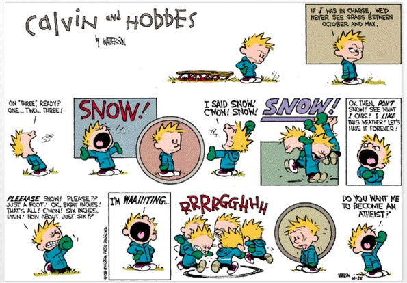 Calvin the atheist