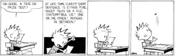 calvin and hobbes proving truth