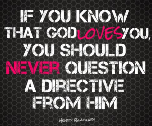 never question god