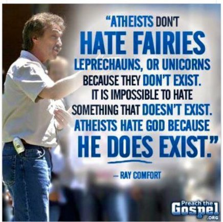 ray comfort atheists hate god