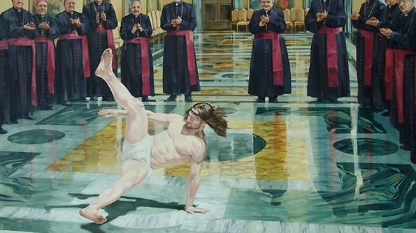 breaking dancing jesus