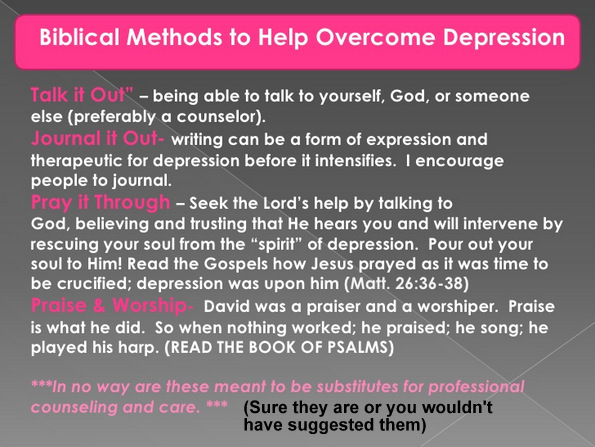 bible the cure for depression