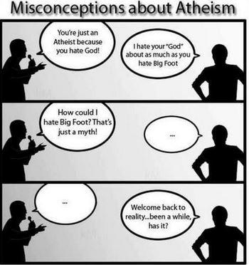 atheists hate god