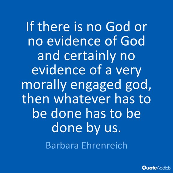 barbara ehrenreich god quote