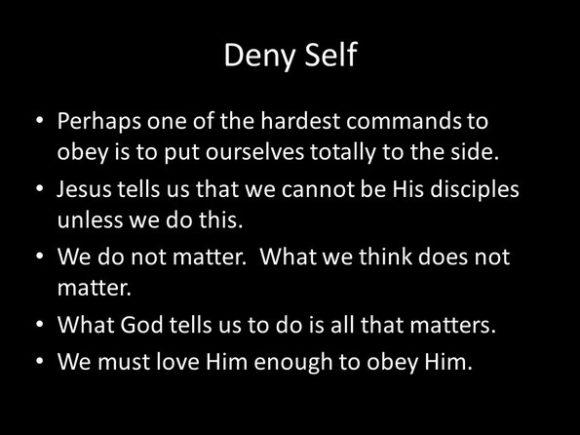 deny self