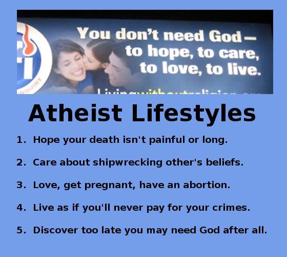 atheist lifestyles