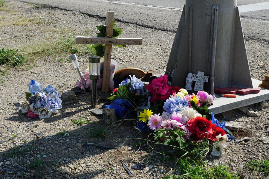 kade moes roadside memorial 2016
