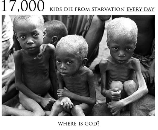 starving children