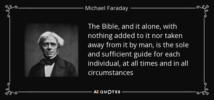michael faraday all sufficient bible