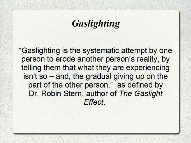Suspension Of Disbelief And Gaslighting In The