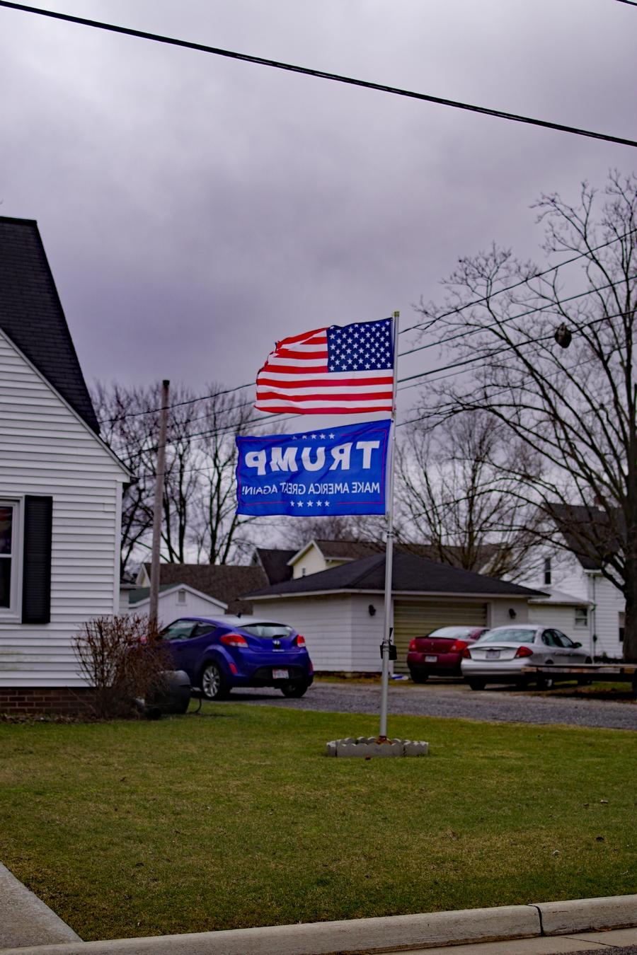 donald trump make america great again flag