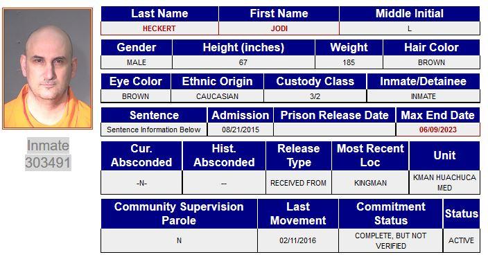 jodi heckert prison record