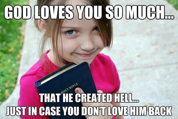 Image result for image of preaching about hell to children