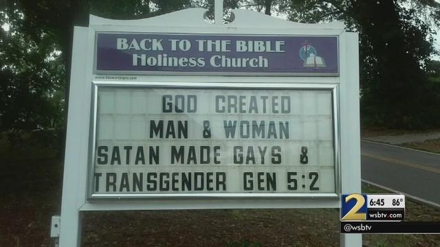 satan created gays transgenders