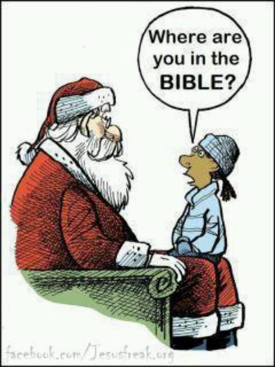 santa in the bible