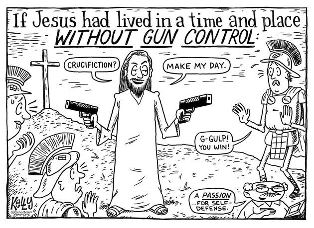 jesus gun control