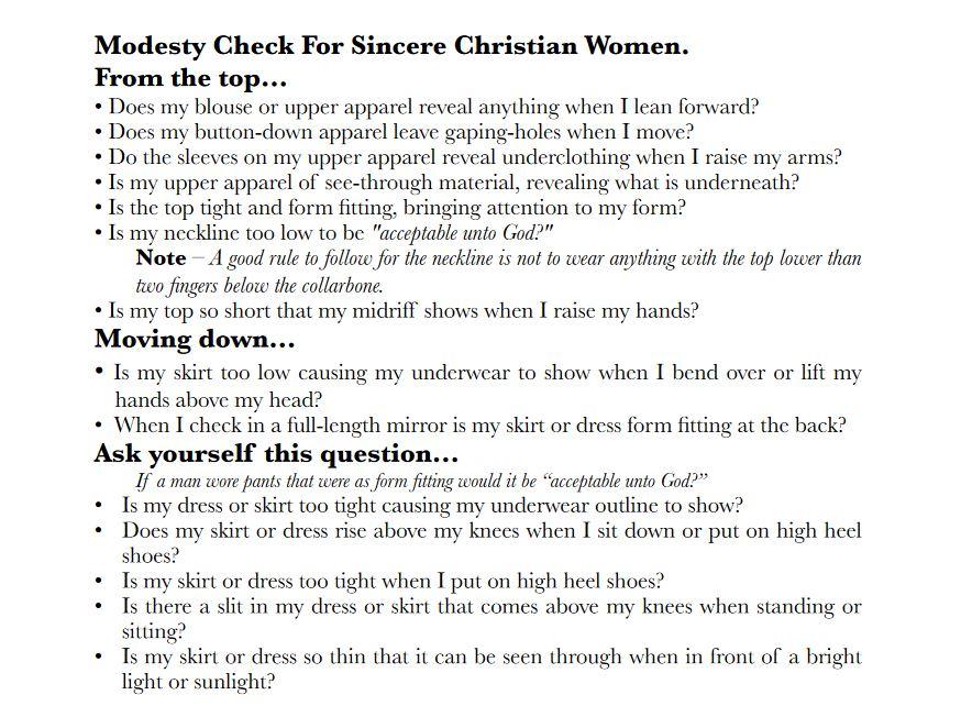 modesty check