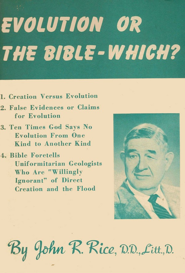 evolution or the bible which john r rice