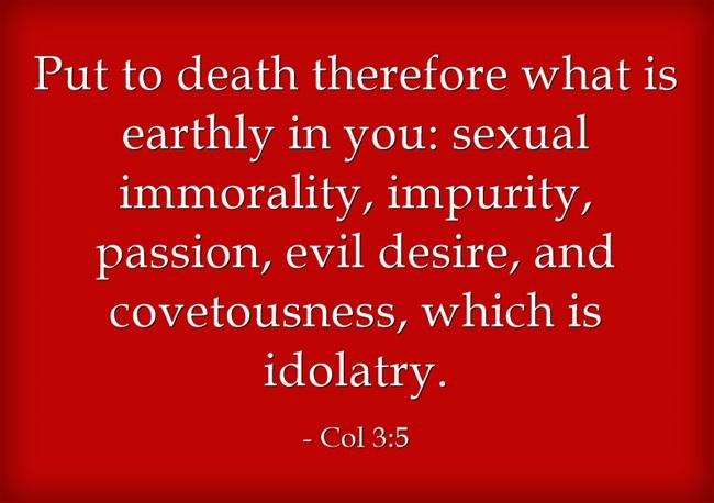 colossians 3:5