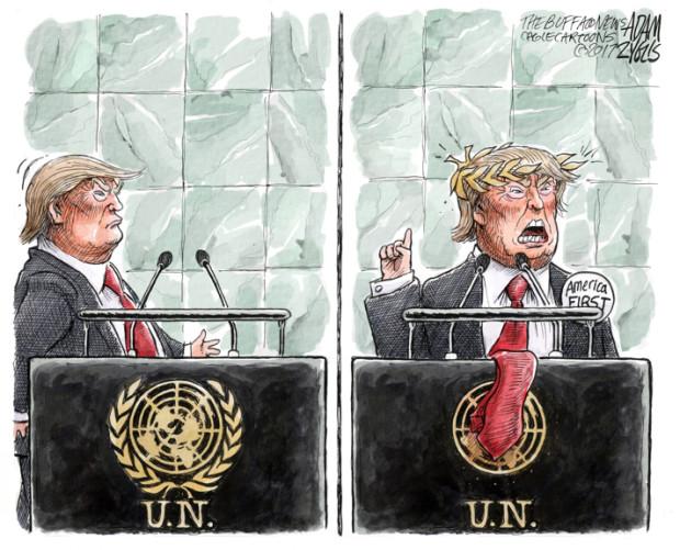 donald trump un speech