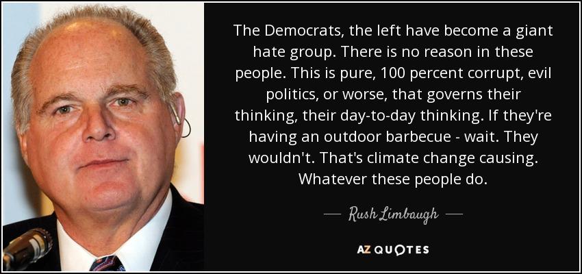 rush limbaugh democrats evil