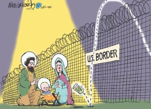 jesus mary joseph at the border