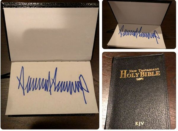 Bible signed by President Donald Trump