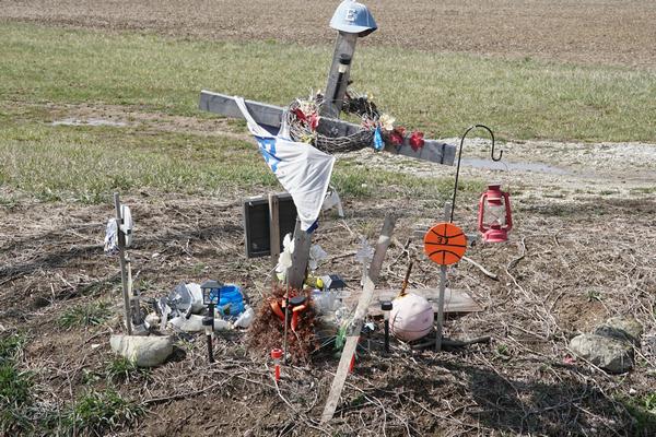 derek sheldon roadside memorial