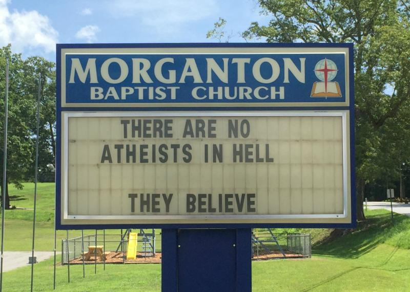 no atheists in hell
