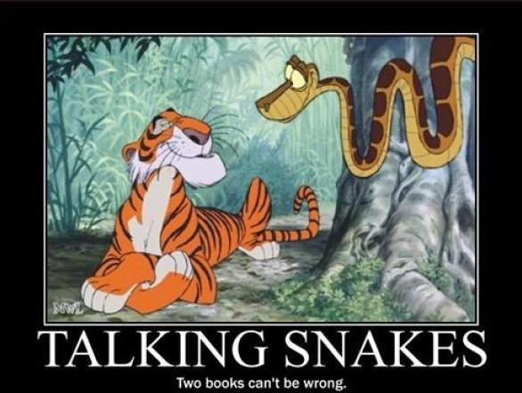 talking snakes