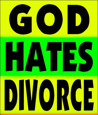god hates divorce