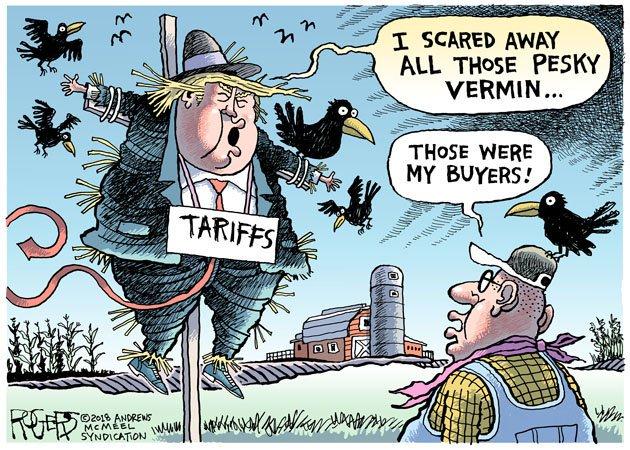 Image result for trump tariff farmer cartoon