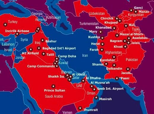 us military bases surround iran
