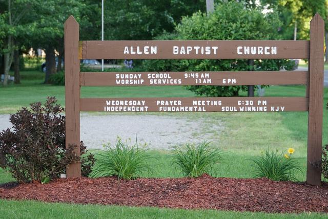 allen baptist church allen michigan