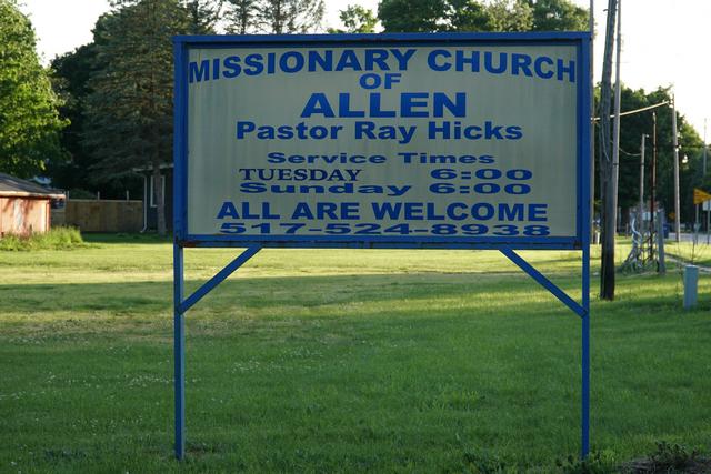 missionary church of allen allen michigan