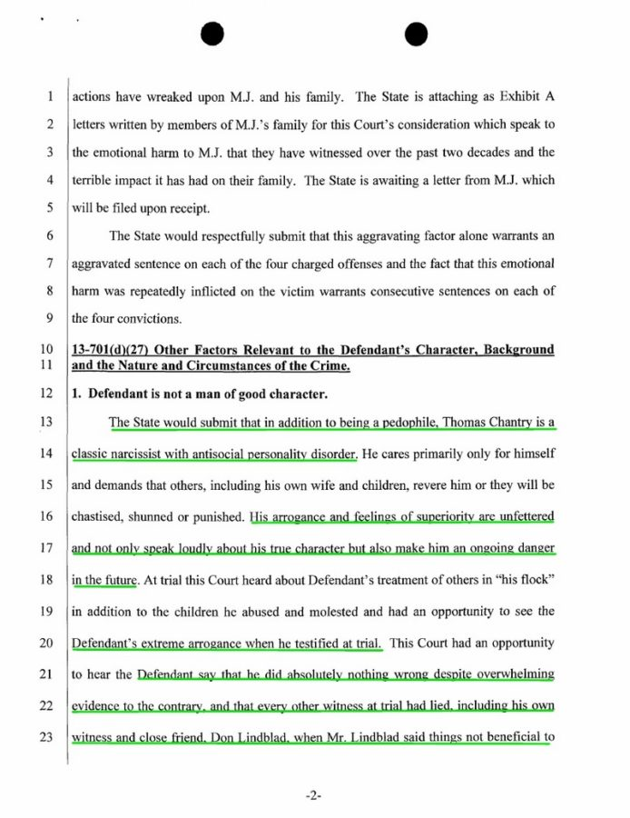 chantry sentencing document