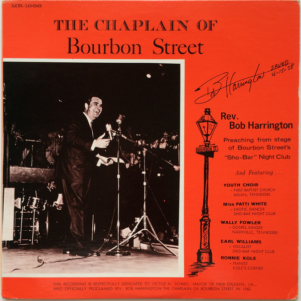 bob harrington chaplain of bourbon street